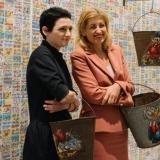 3FREE pristatymas: menininkė Severija Inčirauskaitė ir LR kultūros ministrė Liana Ruokytė-Jonsson . Domo Rimeikos nuotr.