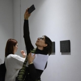Atidarant parodą. Ingridos Mockutės-Pocienės nuotr.