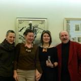 Su uostamiesčio menininkais Daiva Ložyte, Nijole Kepeniene, šviesaus atminimo Rymantu Černiausku. Asmeninio archyvo nuotr.
