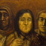 Eglė Velaniškytė. Kristus su mažutėliais. Judo pinigėlis. 2016-2018 m., drobė, aliejus