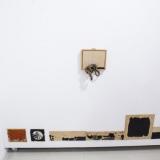 """Aušra Andziulytė, """"Rudeniški"""", fragmentas (fanera, pelenai, grafitas, aliejus, 2017 m.). Nerijaus Jankausko nuotr."""
