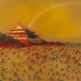 Yin Chaoyang. Aikštė. Drobė, aliejus, 180 x 130 cm, 2009 m.