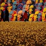 Tituluoto kinų menininko Lijuno Fango instaliacija. Remigijaus Treigio nuotr.