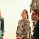 Eksperimentinės socialinės parodos organizatoriai Inga Norkūnienė, Lina Jaruševičiūtė ir Virginijus Bakas. Donato Bielkausko nuotr.