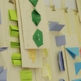 Origamio kūrybinės dirbtuvės KKKC Meno kieme. Rūtos Petniūnaitės nuotr.