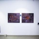 """Irmos Leščinskaitės parodos """"Tapyba. Šiuolaikinės technologijos"""" ekspozicijos fragmentas. Nerijaus Jankausko nuotr."""