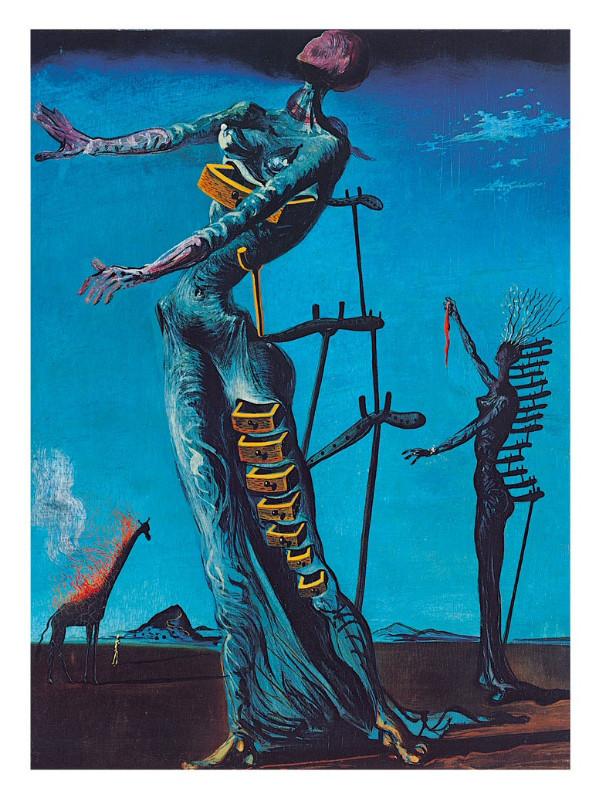"""""""Liepsnojančios žirafos"""". Salvadoras Dali, 1937 m."""
