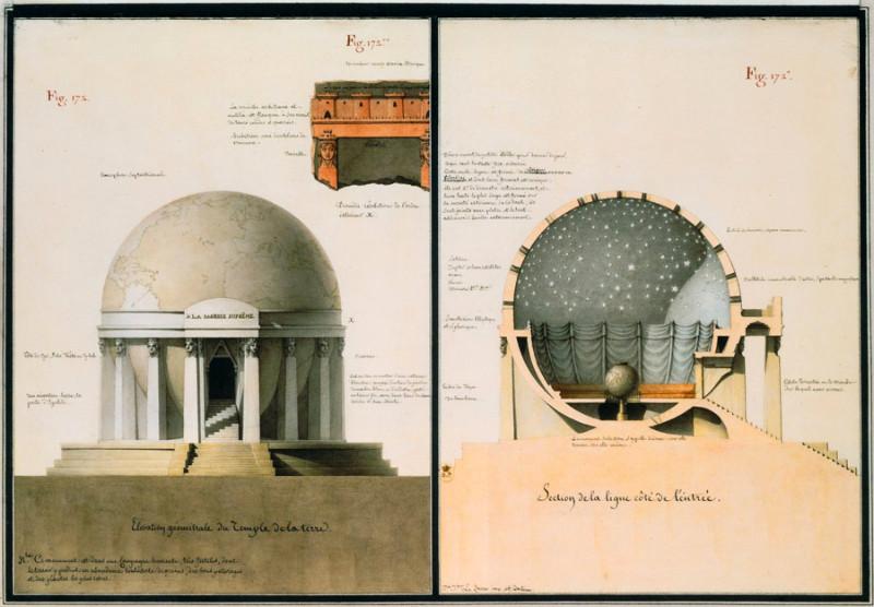 Jeano-Jeacqueso Lequeu Žemės šventyklos projektas. Šaltinis – googleusercontent.com