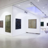 """Arūnės Tornau tapybos paroda """"Tirpstančios formos"""". Nerijaus Jankausko nuotr."""