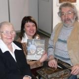 Paskutinis susitikimas su šviesios atminties poetu Sigitu Geda. Kairėje – dailininkė Sofija Vainilaitienė. Asmeninio archyvo nuotr.