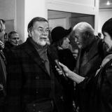 Agnė Bukartaitė kalbina fotomenininką Vytą Karaciejų. Virgilijaus Skuodo nuotr.