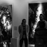 Augustino Našlėno (centre) parodą pristato Fotografijos šventės kūrėjas Darius Vaičekauskas. Virgilijaus Skuodo nuotr.