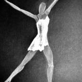 "Vienam iš LNOBT ""Baletų triptiko"" spektaklių ""Franceska Mann"" V. Lebedeva sukūrė kostiumus. Jelenos Lebedevos asmeninio albumo nuotr."
