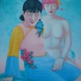 Feng Zhengjie. Įsimylėjęs drugelis, Nr. 20. Drobė, aliejus, 130 x 110 cm, 2003 m.