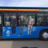 Klaipėdos kūrėjus pristatantys autobusai. Organizatorių nuotr.