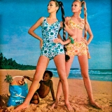 Women\'s beachwear fashion, c1965-1975(?).  Rights information. Editorial only Credit: Land of Lost Content / HIP / TopFoto