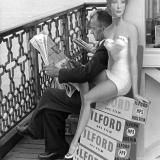 Advertisement for Ilford Films on Llandudno Pier. 1950\'s