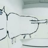 """Leo Ray parodos \""""Begalinis paveikslas\"""" fragmentai. Donato Bielkausko nuotr."""
