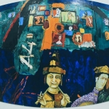 """Leo Ray parodos """"Begalinis paveikslas"""" fragmentai. Donato Bielkausko nuotr."""