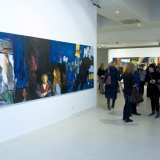 """Leo Ray parodos \""""Begalinis paveikslas\"""" atidarymo akimirkos. Nerijaus Jankausko nuotr."""