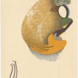 Chiaki. Nežino niekas. 2010, popierius, medžio raižinys, 66 x 49