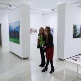 """Mykolės tapybos darbų parodos """"Gamtovaizdis"""" ekspozicijos fragmentas. Nerijaus Jankausko nuotr."""