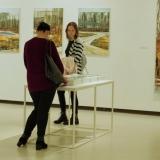 """Mykolės tapybos parodos """"Gamtovaizdis"""" fragmentas. Rūtos Petniūnaitės nuotr."""