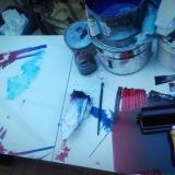 """Grafikos kūrybinės dirbtuvės """"Now Art. Atgimimas"""". Agnės Tumšienės nuotr."""