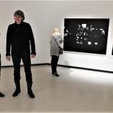 Ignas Kazakevičius pristatė parodos autorių Pietro Finelli. Gedimino Pilaičio nuotr.
