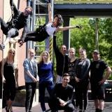 Klaipėdos muzikinio teatro kuriamas vertikalaus šokio spektaklis. Organizatorių nuotr.