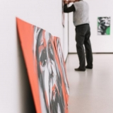 """Virginijaus Viningo retrospektyvinė tapybos paroda """"Trys dešimtmečiai"""" iškeliauja į laisvę. Domo Rimeikos nuotr."""
