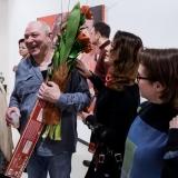 """Virginijaus Viningo parodos """"Trys dešimtmečiai"""" atidarymas. Nerijaus Jankausko nuotr."""