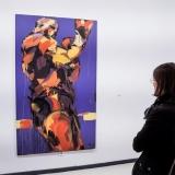 """Virginijus Viningas, iš serijos """"Boksas"""", akrilas, drobė, 200x120 cm, 2014 m. Nerijaus Jankausko nuotr."""