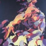 """Virginijus Viningas, """"Gulbės šokis"""", akrilas, drobė, 100x120 cm, 2010 m."""