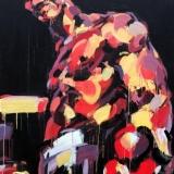 """Virginijus Viningas, iš serijos """"Boksas"""", akrilas, drobė, 170x120 cm, 2010 m."""