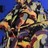 """Virginijus Viningas, """"Cello & Jazz"""", akrilas, drobė, 200x120 cm, 2015 m."""