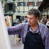 """Tapybos akcija-hepeningas """"Laisvė"""", menininkas Audrius Gražys. Donato Bielkausko nuotr."""