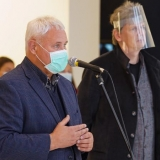 Klaipėdos meras Vytautas Grubliauskas ir KKKC direktorius Ignas Kazakevičius. Donato Bielkausko nuotr.