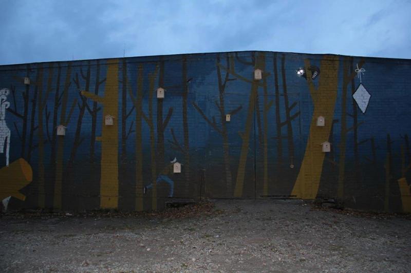 VDA Nidos meno kolonijos angaro siena vakare