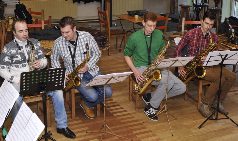 Klaipėdos džiazo orkestro repeticija. Algirdo Kubaičio nuotr.