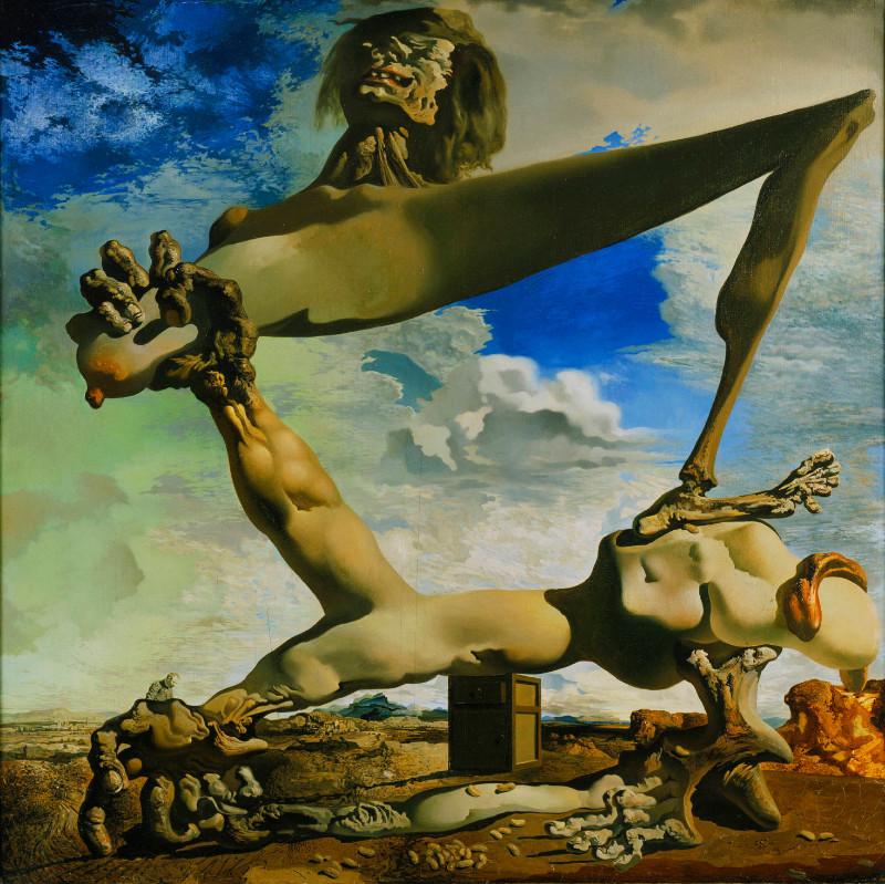 """""""Pilietinio karo nuojauta"""". Salvadoras Dali, 1936 m."""