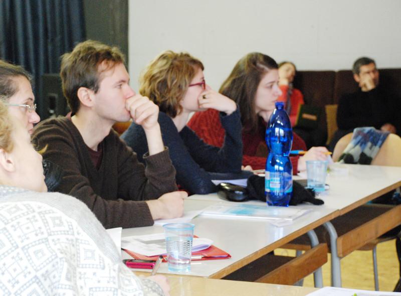 Goethe's instituto surengtuose tarptautiniuose kuratorių seminaruose dalyvavo apie 15-a kuratorių iš Vengrijos, Lenkijos, Lietuvos, Latvijos, Slovėnijos, Slovakijos ir Čekijos. Asmeninio albumo nuotr.
