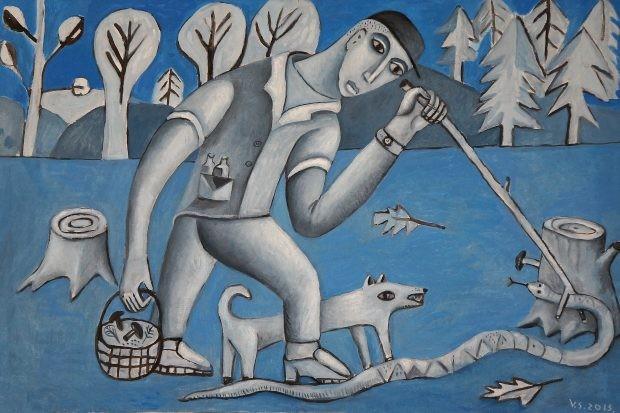 Valdo Simučio tapybos darbas. Autoriaus archyvo nuotr.