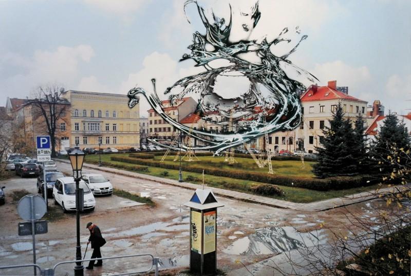 """Aleksejaus Čebykino instaliacijos """"Simbolio sugrįžimas"""" fragmentas"""