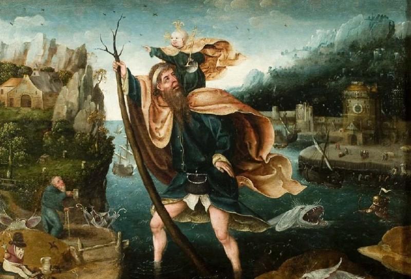 Knygos viršelį puošia Jan Mandijn Šv. Kristoforo paveikslao fragmentas. Sunku dailėje rasti kitą tokią beprotybės auos supamą šio šventojo reprezentaciją.
