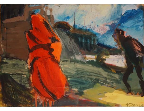 "Saulius Dastikas, ""Figūros prie Gango"", 2013 m."