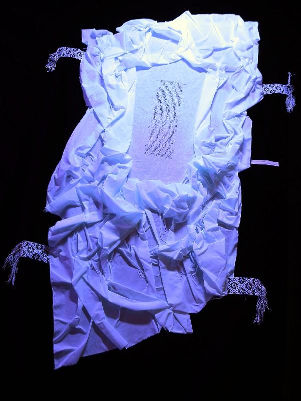 """L.Guokės instaliacijos """"Ten, kur esi"""" fragmentai. Vytauto Petriko nuotr."""