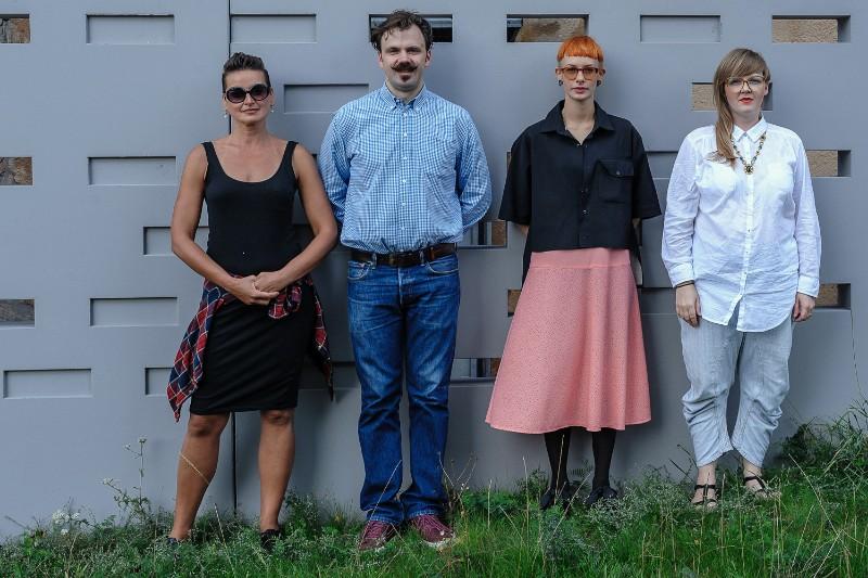 Festivalio organizatoriai Edita Vigelytė (k.), Liudas Andrikis, Asta Labžentytė, Jurga Sutkutė. Algirdo KUBAIČIO nuotr.