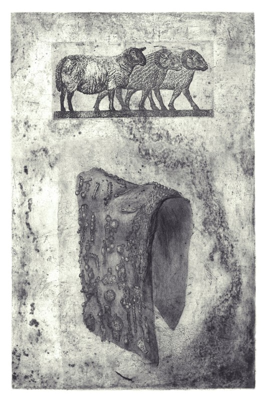 Ugnė Žilytė. Persų piemuo. Ofortas, sausoji adata. 2013 m.