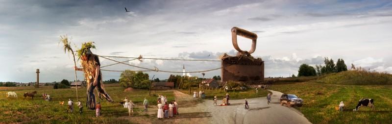 A.Našlėnas. Pasaulio lygintojas. 2013, 200x63 cm.